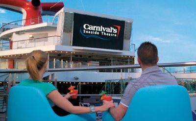 Carnival Liberty dive-in movies