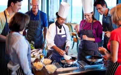 Celebrity Silhouette cooking demonstration