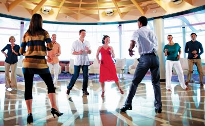 Celebrity Silhouette dancing