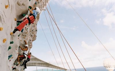Royal Caribbean Navigator of the Seas climbing wall
